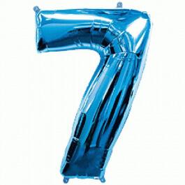 """Νούμερο """"7"""" μεγάλο - Flexmetal - μπλε - 7917674"""