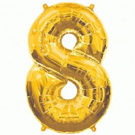 """Νούμερο """"8"""" μεγάλο - Flexmetal - χρυσό - 7917681"""