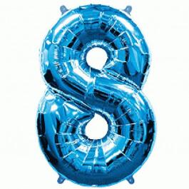 """Νούμερο """"8"""" μεγάλο - Flexmetal - μπλε - 7917684"""