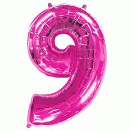 """Νούμερο """"9"""" μεγάλο - Flexmetal - φούξια - 7917693"""