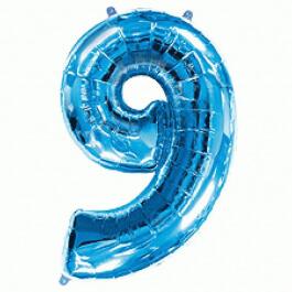 """Νούμερο """"9"""" μεγάλο - Flexmetal - μπλε - 7917694"""