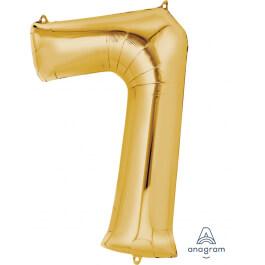 """Νούμερο """"7"""" μεγάλο - Anagram - χρυσό - A2825601"""
