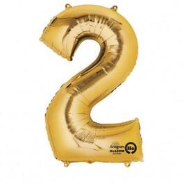 """Νούμερο """"2"""" μικρό - Anagram - χρυσό - A3307901"""