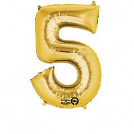 """Νούμερο """"5"""" μικρό - Anagram - χρυσό - A3308501"""