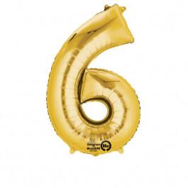 """Νούμερο """"6"""" μικρό - Anagram - χρυσό - A3308701"""