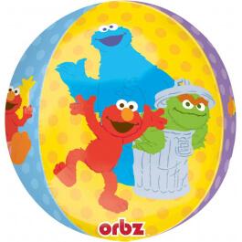 """Μπαλόνι Foil ORBZ σφαιρικό """"Sesame Street"""" 43εκ. - A28398"""