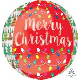 """Μπαλόνι Foil ORBZ σφαιρικό """"Merry Christmas"""" 43εκ. - A33968"""