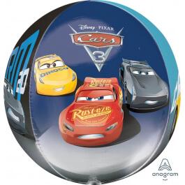 """Μπαλόνι Foil ORBZ σφαιρικό """"Cars 3"""" 43εκ. - A35374"""