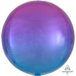 Μπαλόνι Ombre ORBZ σφαιρικό 43εκ. - Κόκκινο & Μπλε - A3984501