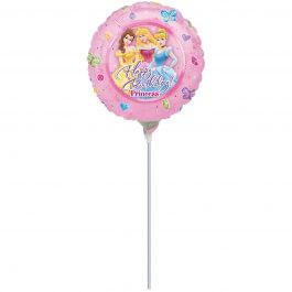 """Μπαλόνι Foil μικρό για στικ """"Disney Princess Birthday"""" 23εκ. - A1003609"""