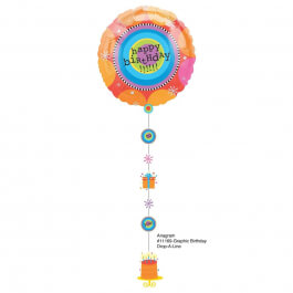 """Μπαλόνι Foil Drop A line """"Graphic Birthday"""" - A1116901"""