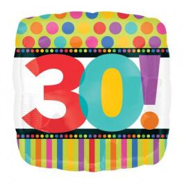 """Μπαλόνι Foil """"No30 Dots & Stripes"""" 46εκ. - A11246201"""