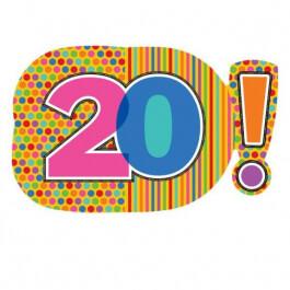 """Μπαλόνι Foil """"No20 Dots & Stripes"""" 73εκ. - A2291001"""