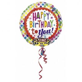 """Μπαλόνι με μουσική """"Happy Birthday"""" 71εκ. - A2686901"""
