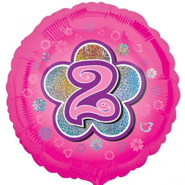 """Μπαλόνι Foil """"No2 Pink Flower"""" 46εκ. - A2954401"""