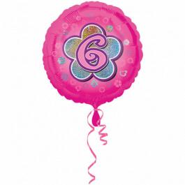 """Μπαλόνι Foil """"No6 Pink Flower"""" 46εκ. - A2954801"""