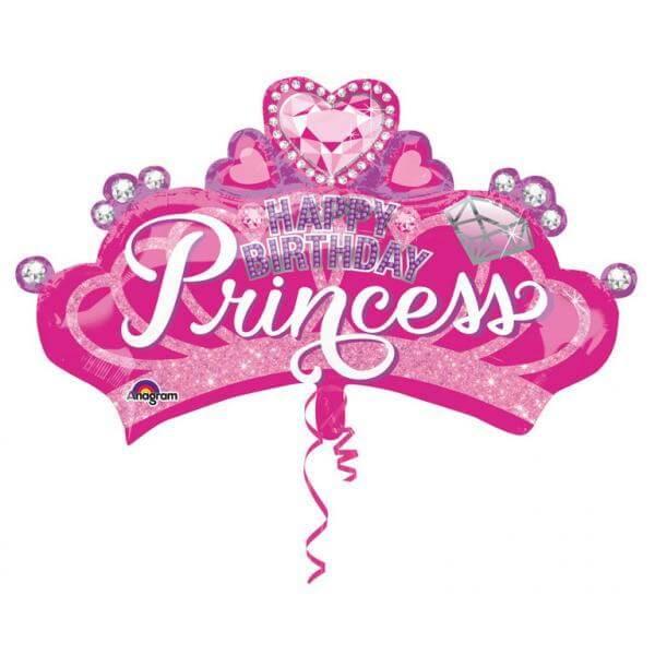 """Μπαλόνι Foil """"Princess Crown and Gem"""" 81εκ. x 48εκ. - A3457101"""