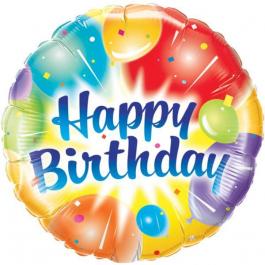 """Μπαλόνι Foil """"Birthday Balloons Ablaze"""" 46εκ. - 18158"""