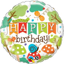 """Μπαλόνι Foil """"Birthday Garden"""" 46εκ. - 25181"""