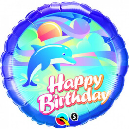 "Μπαλόνι Foil ""Birthday Dolphin"" 46εκ. - 29608"