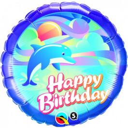 """Μπαλόνι Foil """"Birthday Dolphin"""" 46εκ. - 29608"""