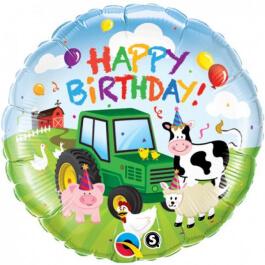 """Μπαλόνι Foil """"Birthday Barnyard"""" 46εκ. - 29612"""