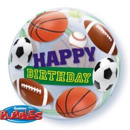 """Μπαλόνι Bubble """"Birthday Sport Balls"""" 56εκ. - 34821"""