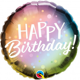 "Μπαλόνι Foil ""Happy Birthday Metallic Ombre & Dots"" 46εκ."