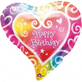 """Μπαλόνι Foil """"Watercolor Birthday"""" 46εκ. - A0763501"""