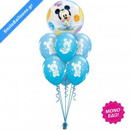 """Μπουκέτο μπαλονιών """"Baby Mickey Mouse Bubble"""" - Κωδικός: 9502011 - SmileStore"""
