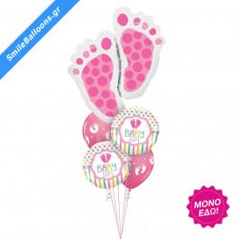 """Μπουκέτο μπαλονιών """"Love You Baby Girl"""" - Κωδικός: 9502022 - SmileStore"""