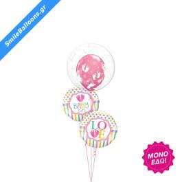 """Μπουκέτο μπαλονιών """"Pink Footprints"""" - 9502035"""