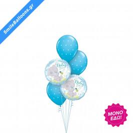 """Μπουκέτο μπαλονιών """"Welcome Baby Boy Clouds"""" - Κωδικός: 9502041 - SmileStore"""