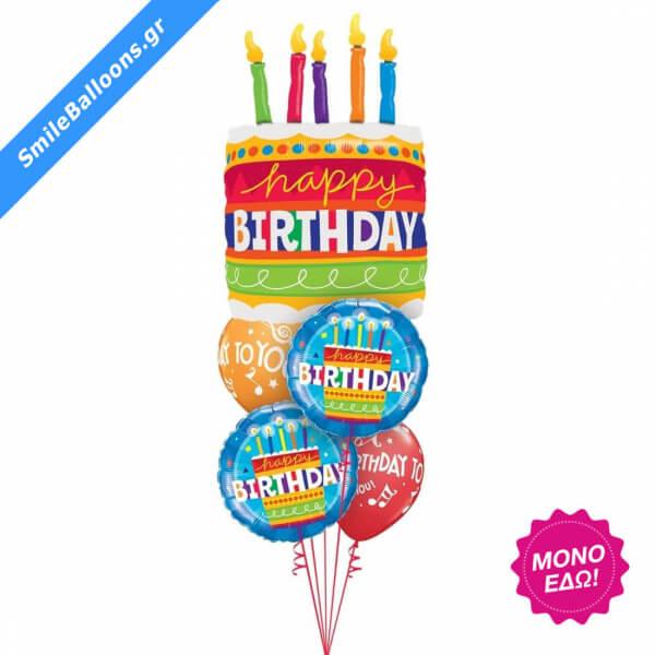"""Μπουκέτο μπαλονιών """"Birthday Cake Candles"""" - 9503018"""