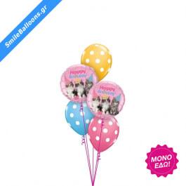 """Μπουκέτο μπαλονιών """"Birthday Kitties"""" - Κωδικός: 9503027 - SmileStore"""