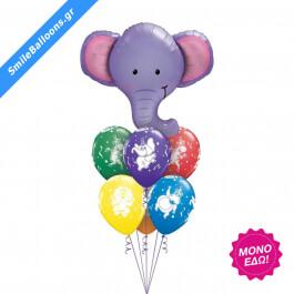 """Μπουκέτο μπαλονιών """"Elephants Never Forget"""" - Κωδικός: 9503072 - SmileStore"""
