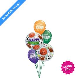 """Μπουκέτο μπαλονιών """"Happy Birthday Sports"""" - 9503102"""