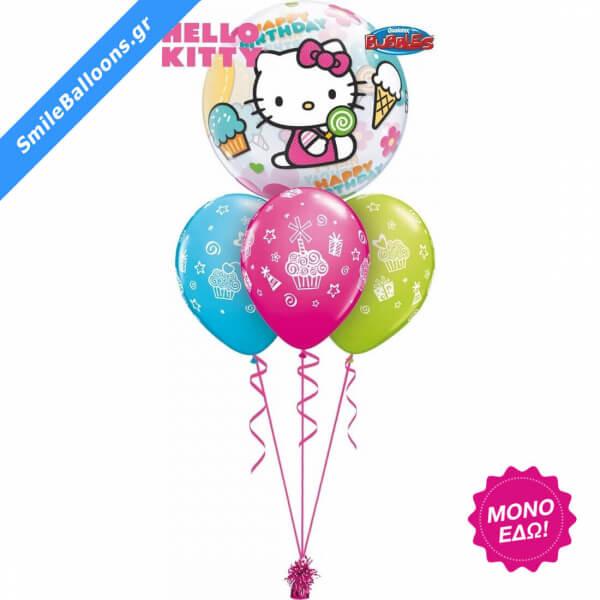 """Μπουκέτο μπαλονιών """"Hello Kitty Birthday"""" - Κωδικός: 9503110 - SmileStore"""