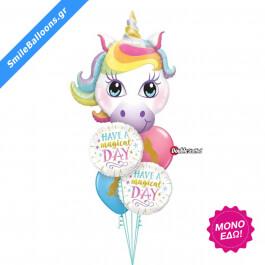 """Μπουκέτο μπαλονιών """"Magical Day Birthday"""" - Κωδικός: 9503115 - SmileStore"""