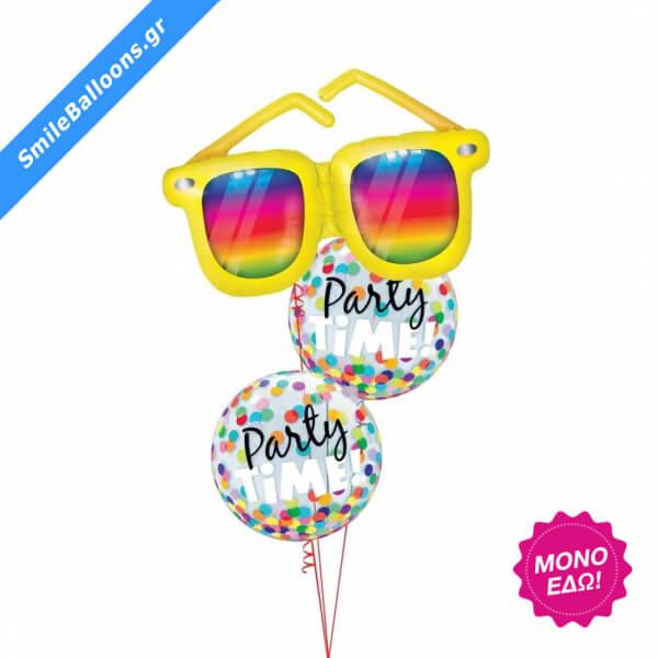 """Μπουκέτο μπαλονιών """"Multicolored Party Time"""" - Κωδικός: 9503118 - SmileStore"""