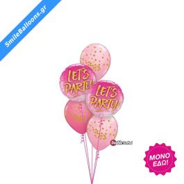 """Μπουκέτο μπαλονιών """"Pink Rose Lets Party"""" - 9503134"""