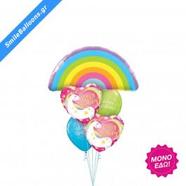 """Μπουκέτο μπαλονιών """"Rainbows Unicorns Birthday"""" - Κωδικός: 9503145 - SmileStore"""