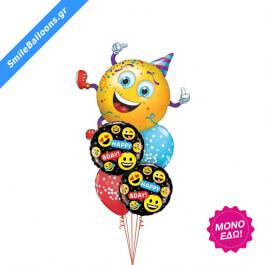 """Μπουκέτο μπαλονιών """"Smiley Party Guy Emoticons"""" - Κωδικός: 9503151 - SmileStore"""