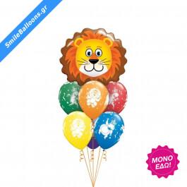 """Μπουκέτο μπαλονιών """"Zoo Party"""" - Κωδικός: 9503173 - SmileStore"""