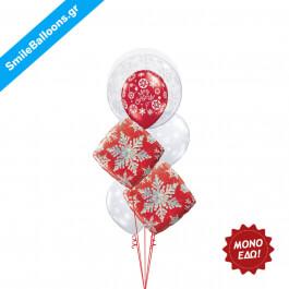 """Χριστούγεννα - Μπουκέτο μπαλονιών """"Winter Wonderland"""" - Κωδικός: 9504001"""