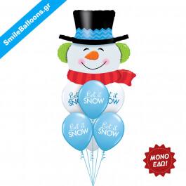 """Χριστούγεννα - Μπουκέτο μπαλονιών """"Snow Day Fun"""" - Κωδικός: 9504010"""