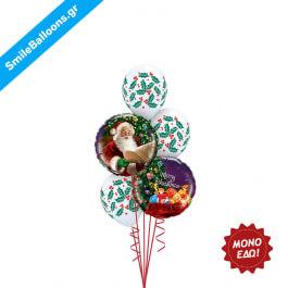 """Χριστούγεννα - Μπουκέτο μπαλονιών """"Santas Secret List"""" - Κωδικός: 9504011"""