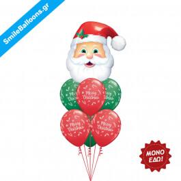 """Χριστούγεννα - Μπουκέτο μπαλονιών """"Santas Coming To Town"""" - Κωδικός: 9504013"""