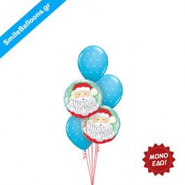 """Χριστούγεννα - Μπουκέτο μπαλονιών """"Santa In The Snow"""" - Κωδικός: 9504014"""
