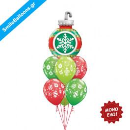 """Χριστούγεννα - Μπουκέτο μπαλονιών """"Ornaments Abound"""" - Κωδικός: 9504020"""